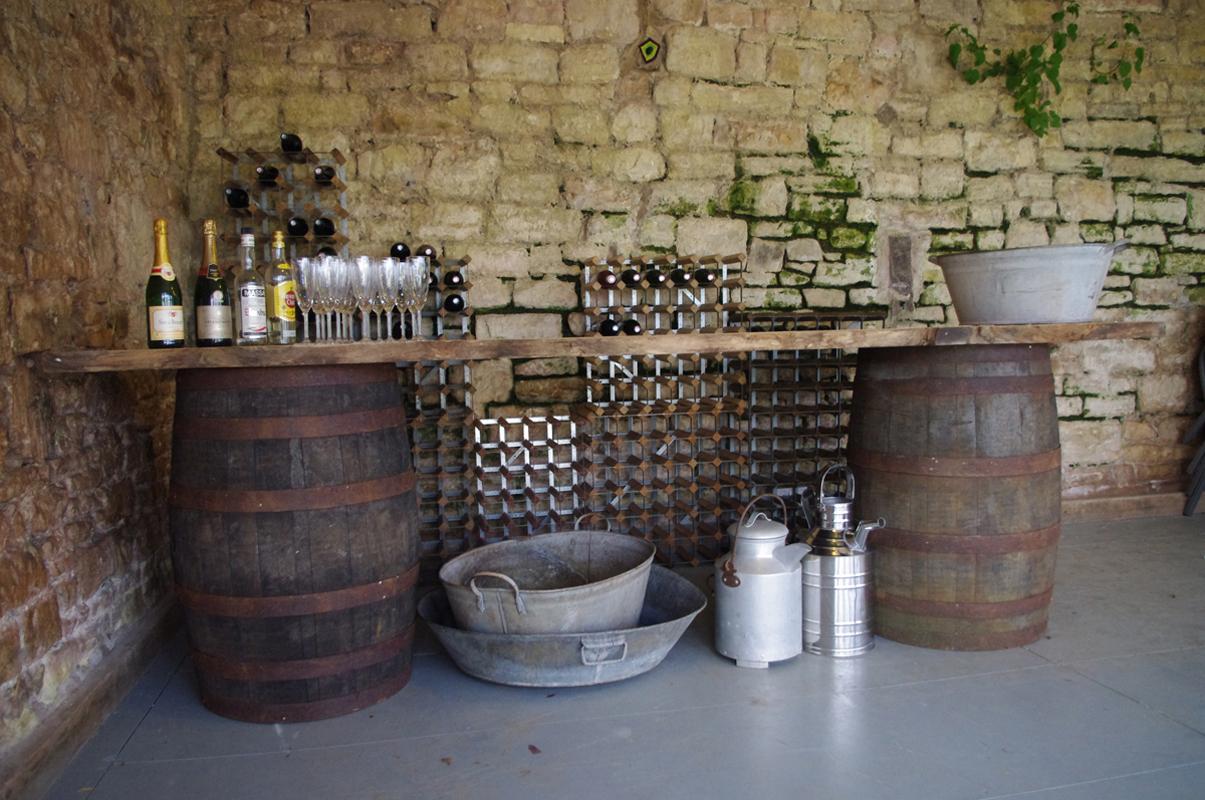 Rustic barrel bar bath vintage hire for How to make a wine barrel bar