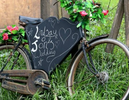 BathVintageWeddingHire-bicycle-bike-chalkboard-flowers-sign