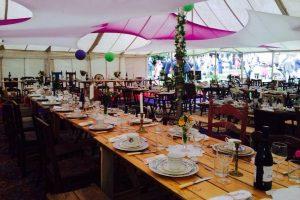 BathVintageWeddingHire-trestle-tables-marquee-dinner