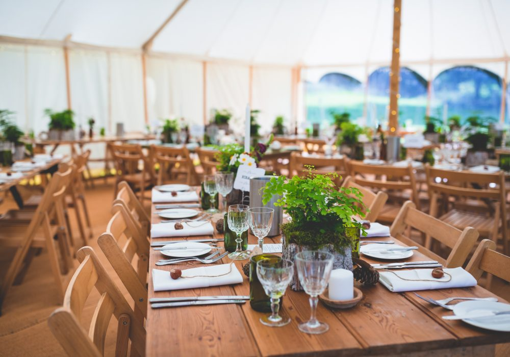 Reception tables - Helena & Phil 2